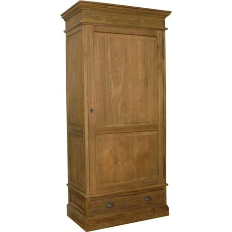 Teak Knockdown 1 Door Cabinet (17445)